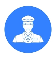 Museum security guard icon in black style isolated vector