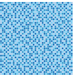 Blue mosaic tile seamless pattern vector