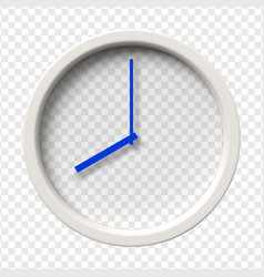 realistic wall clock vector image