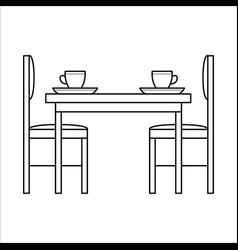 Table and chairs in dinning vector