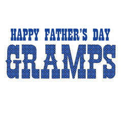 Blue bandana gramps fathers day vector