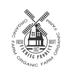 Organic farm farming product fresh draft logo vector
