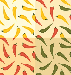 Chili pattern vector