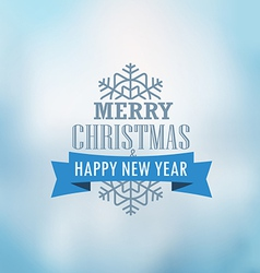 Christmas greeting card Christmas emblem vector image