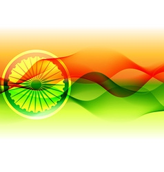 Flag of india with wave flowing vector