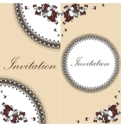 Beautiful floral invitation card with flowers vector