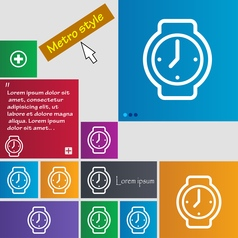 Watches icon sign buttons modern interface website vector