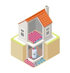Energy chain 05 building isometric vector
