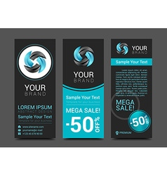 Business set of modern turquoise banners vector