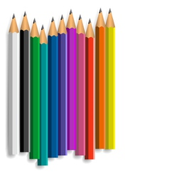Coloured pencils vector
