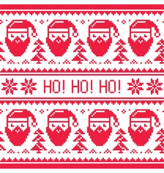 Christmas seamless red pattern with Santa vector image