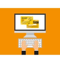 Credit card design vector