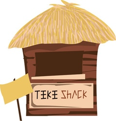 Tiki shack vector