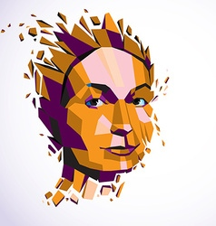 Modern technological of personality 3d port vector image