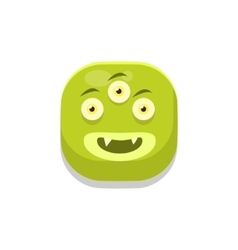 Content Monster Square Icon vector image