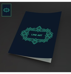 Line art design calligraphic linear element vector