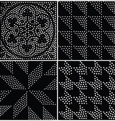 Abstract geometric seamless pattern repeating vector