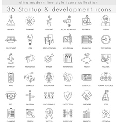 Startup and development ultra modern vector