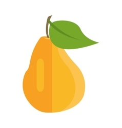 Pear in flat style design vector