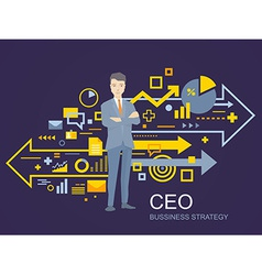 A portrait of the leader of a businessman vector