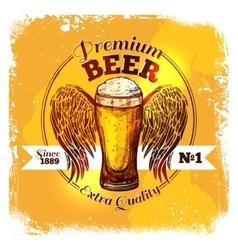 Beer sketch label vector