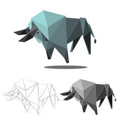 Buffalo polygon vector