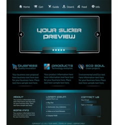 business web template vector image