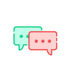 Cartoon double speech bubble icon vector