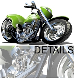 Cartoon Motorcycle vector image vector image