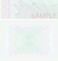 Certificate paper vector