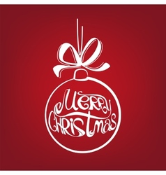 Christmas ball symbol drawn vector image vector image