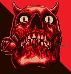 devil skull romance vector image vector image