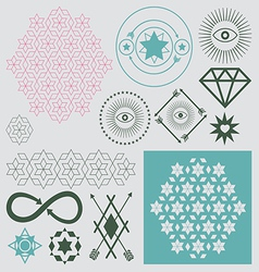 Esotreric elements set vector
