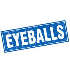 Eyeballs square stamp vector