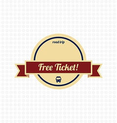 free ticket label vector image