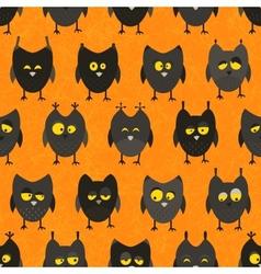 Halloween owl seamless background vector image vector image