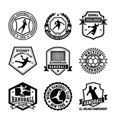 Handball badges vector