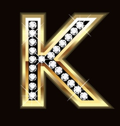 k bling vector image
