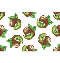 Kiwi seamless pattern vector