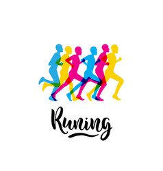 logo sports running vector image vector image