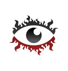 One eye look watch fire burn theme vector