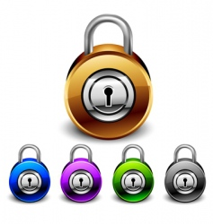 padlocks set vector image vector image