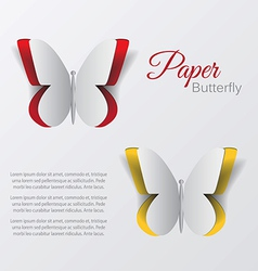 paper buterfly vector image vector image