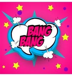 Pop art pink comment bang vector