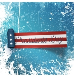 Presidents day big realistic scroll paper ribbon vector