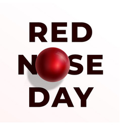 red nose day abstract sign emblem or card vector image vector image
