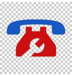 Repair service phone icon vector