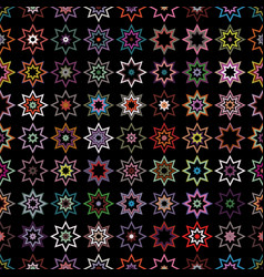Seamless background of stars vector