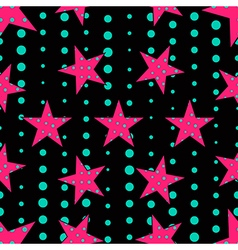 Stars in pop art style seamless pattern vector image vector image