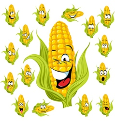 Sweet corn cartoon vector